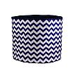 Мешок (корзина) для хранения, Ø45 * 40 см, (хлопок), с отворотом (зигзаги синие / темно-синий), фото 3
