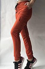 Спортивные брюки с накладными карманами N° 125 морковный, фото 2