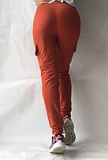 Спортивные брюки с накладными карманами N° 125 морковный, фото 3
