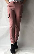 Спортивные брюки с накладными карманами N° 125 розовый, фото 2