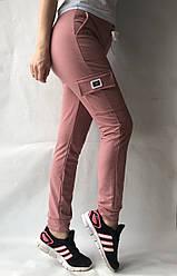 Спортивные брюки с накладными карманами N° 125 розовый