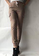 Спортивные брюки с накладными карманами N° 125 бежевый, фото 3