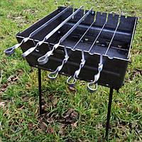 Мангал-чемодан складной на 6 шампуров стальной (2 мм)