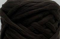 Шерсть для валяния австралийский меринос 23 микрон (10 грамм = 25 см) - кофе коричневая. Фелтинг Вовна валяння