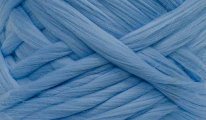 Шерсть для валяния австралийский меринос 23 микрон (10 грамм = 25 см) - голубая. Фелтинг. Вовна