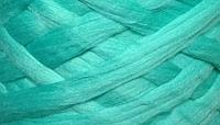 Австралийский меринос для валяния 23 микрон (10 грамм) - мятная. Шерсть для валяния мятная. Фелтинг