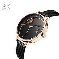 Женские часы SK Shengke K0091L Black, Quartz