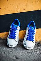 Кросівки жіночі весняні осінні якісні модні Alexander McQueen White/Blue, фото 1