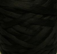 Австралийский меринос для валяния 23 микрон (10 грамм) - чёрный. Шерсть для валяния черная. Фелтинг