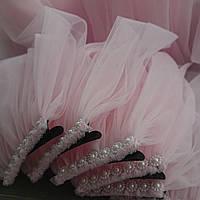 Фата на девичник розовая 50 см