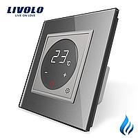 Терморегулятор Livolo для котлов отопления серый (VL-C701TM3-15), фото 1