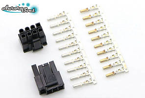 Роз'єм 6+2Р 8pin PCI-E + контакти,для живлення відеокарти під обжимку
