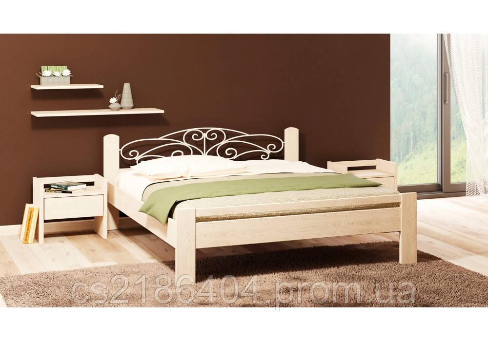 Двоспальне дерев*яне ліжко Амелія