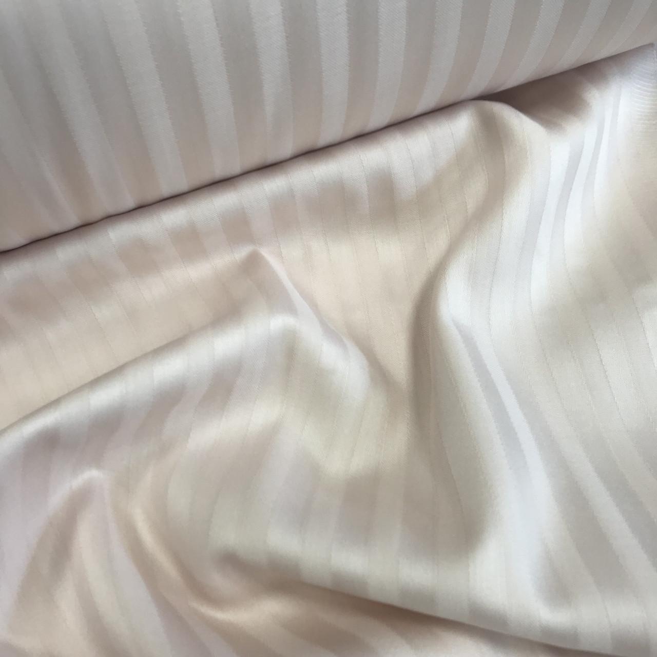Сатин 100% хлопок  (ТУРЦИЯ шир. 2,4 м) Stripes слоновая кость ОТРЕЗ (0,9*0,95 м)