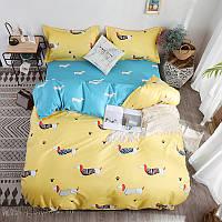 """Комплект постельного белья """"Такса"""" (двуспальный-евро), фото 1"""