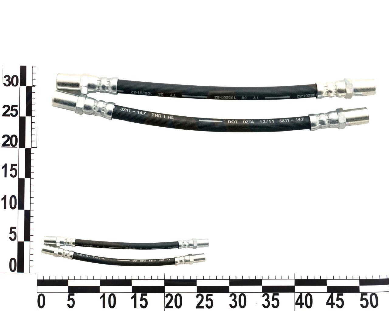 Шланг тормозной ВАЗ 2110, 2111, 2112-2112 задний, комплект 2шт., . 2108-3506085 (ДЗТА)