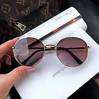 Жіночі брендові сонцезахисні окуляри (7315) brown