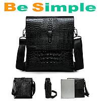 Мужская сумка через плечо Lacoste Aligator / Кожаная сумка