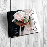 Фотоальбом с индивидуальной акриловой обложкой формата 30х30 с блоком из белого картона, фото 1