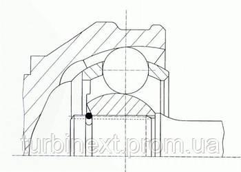 ШРУС со смазкой в комплекте AUDI  90 (89, 89Q, 8A, B3) SPIDAN 022548