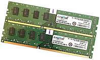Пара оперативной памяти Crucial DDR3 16Gb (8Gb+8Gb) 1600MHz PC3 12800U 2R8 CL11 (CT102464BA160B.M16FN) Б/У, фото 1