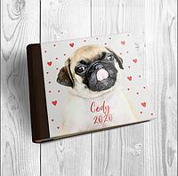 Фотоальбом с индивидуальной акриловой обложкой формата 21х21 с блоком из крафтового картона
