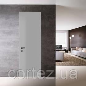 Двери скрытого монтажа RAL9003 наружный/зеркало внутри, откр. внутреннее