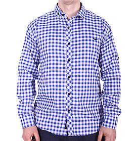 Рубашка батал Rigans турция b0118/1 синяя 5XL