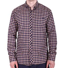 Рубашка батал Ronex турция b0118/3 коричневая 3XL