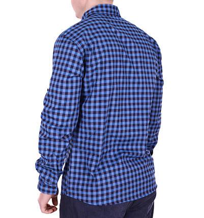 Рубашка батал Rigans турция b0118/5 темно-синяя 5XL, фото 2