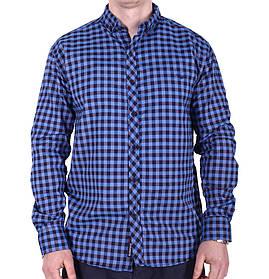Рубашка батал Rigans турция b0118/5 темно-синяя 3XL