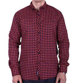 Рубашка большого размера Rigans b0218/1 бордовая 4XL