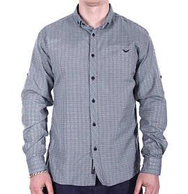 Рубашка большого размера Rigans b0218/2 серая 3XL