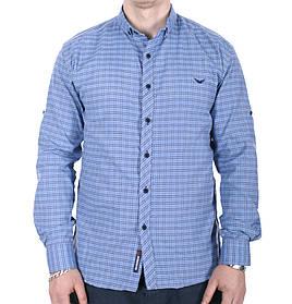 Рубашка большого размера Rigans b0218/3 голубая XXL