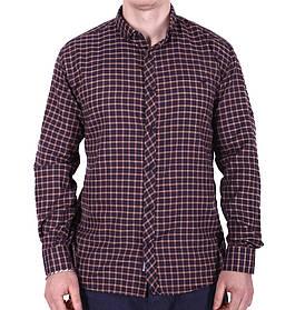 Рубашка большого размера Rigans b0218/4 коричневая XXL