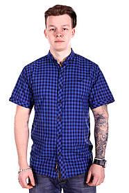 Рубашка с коротким рукавом Rigans Турция s1519/3 Синяя S