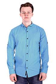 Рубашка Ronex в точку s0918/1 Голубая XXL