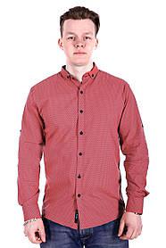 Рубашка Ronex в точку s0918/2 Коралловая XXL