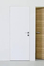 Двери скрытого монтажа RAL9003 наружный/зеркало внутри, откр. нуружное