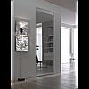 Двери скрытого монтажа RAL9003 наружный/зеркало внутри, откр. нуружное, фото 7