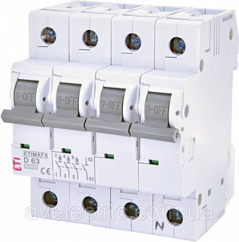 Автоматический выключатель ETIMAT 6 3p+N C6 ETI, 2146512