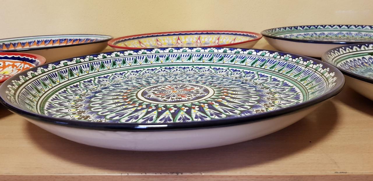 Узбекские ляганы (тарелки) из Риштанской керамики 38см