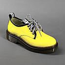 Кожаные женские стильные модные туфли со шнуровкой, фото 2