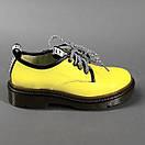 Кожаные женские стильные модные туфли со шнуровкой, фото 3