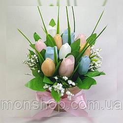 Мыльный букет тюльпаны (11 шт.)