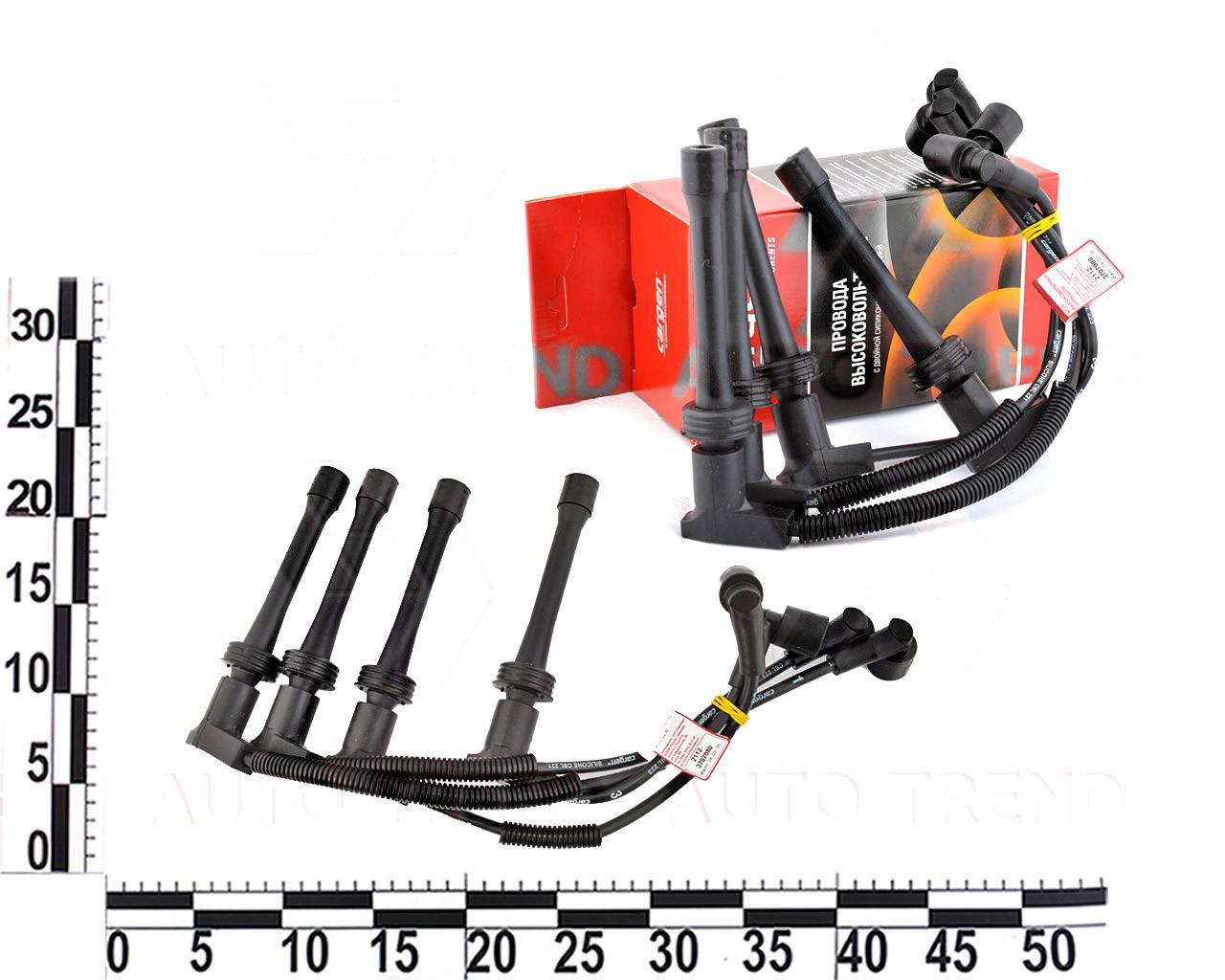 Провода зажигания ВАЗ 1118, 1117, 1119 Калина инжектор, 16-ти клапанный. (комплект). 2112-3707080 (CARGEN)