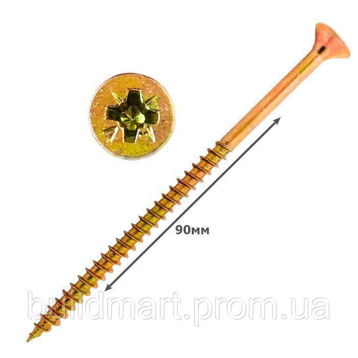 Шуруп универсальный желтый 5х90 (100шт.)