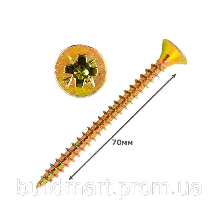 Шуруп универсальный желтый 6х70 (250шт.)