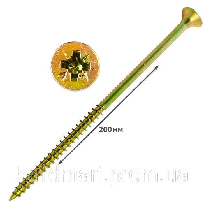 Шуруп универсальный желтый 6х200 (100шт.)