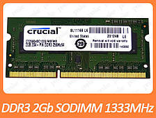 DDR3 2GB 1333 MHz (PC3-10600) SODIMM разные производители